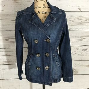CAbi Stretch Denim Peacoat Style 518 Women's Small